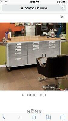 12 Drawers Garage Steel Metal Rolling Tool Box Storage Craft Cabinet Workbench
