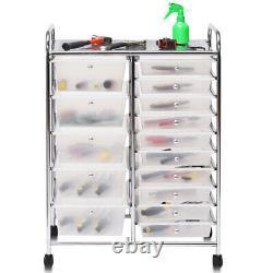 15 Drawer Rolling Storage Cart Organizer Tools Kitchen Shelves With Wheels