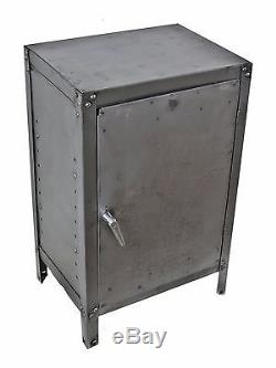 1940's Freestanding Factory Machine Shop Cold-rolled Steel Storage Cabinet