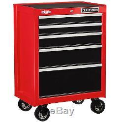 26.5 Tool Chest Storage Box Rolling Cabinet Garage Organizer By Craftsman