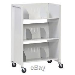 26-in Office Hospital Storage Steel Medical File Folder Cabinet Rolling Cart
