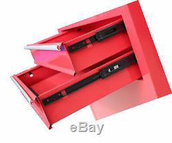 2-Pc. 6 Drawer Ball Bearing Slides Rolling Tool Storage Chest Rollaway Locking
