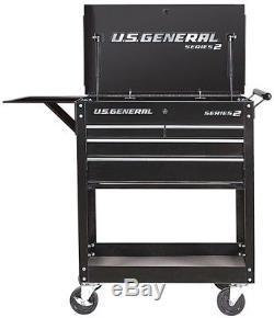 30 4-Drawer Steel Rolling Mechanics Storage Tool Box Chest Service/Utility Cart