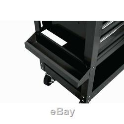 30 in 5 DRAWER BLACK Mechanic's Cart Tool Storage Rolling Workstation Auto Shop