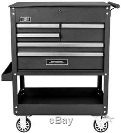 31-In 5-Drawer Portable Rolling Heavy Duty Mechanics Tool Storage Utility Cart