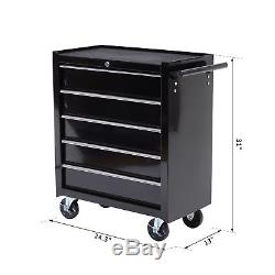 31 Steel Rolling Tool Cart Wheeled Storage Cabinet Chest Tool Box With 5 Drawer