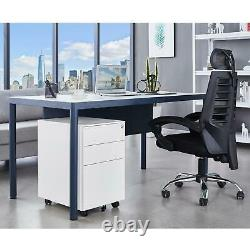 3 Drawer Office Home Steel File Filing Cabinet Storage Business Furniture Mobile