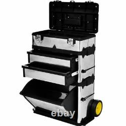 3-Part Rolling Wheels Tool Trolley Cart Storage Cabinet Tool Boxes Utility