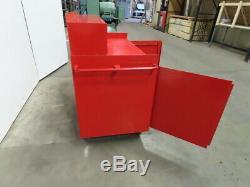 48 x 26 34 T Rolling Steel Storage Work Shop Bench With Shelf Powder Coated