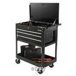 4-Drawer Rolling Tool Chest Storage Cabinet 30 in Mechanics Box Cart Black Steel