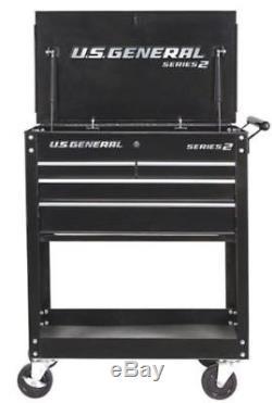 4 Drawer Rolling Tool Storage Shelf Utility Tech Cart withLocks
