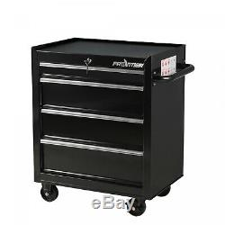 4 Drawers Tool Box Chest Metal Rolling Cabinet 26 In Bottom Storage Workshop