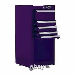 5-Drawer Steel Rolling Tool/Salon Cart, With Bulk Storage, V1804pur Purple