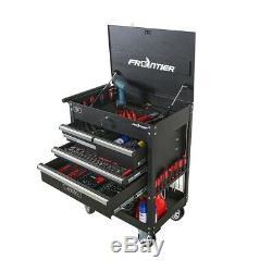 5 Drawer Tool Utility Cart Storage Holder Rolling Wheels Garage Shop Steel Black