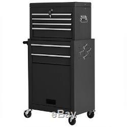 6-Drawer Rolling Cabinet Storage Chest Box Functional Garage Tool Box Organizer