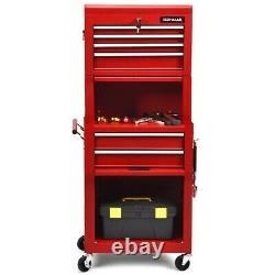 6-Drawer Rolling Tool Chest Storage Cabinet Toolbox Combo Locking withRiser RedUS