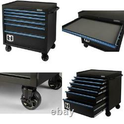 6 Drawer Tool Chest Cabinet Storage Rolling ToolBox Garage Steel Organizer Tools
