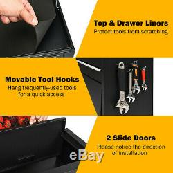 6-Drawer Tool Chest Machinist Cabinet Rolling Tool Box Storage organizer Black