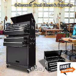 8 Drawer Big Rolling Tool Chest Organizer Removable Storage Cabinet Chest Drawer