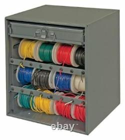 AUTO HOME ELECTRIC WIRE ROLL WIRING SPOOL Metal Storage Cabinet Rack with Drawer