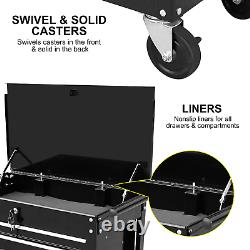Aain 4 Drawer Mechanic Tool Utility Storage Cart 580 LBS Capacity Rolling Cart
