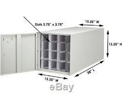 AdirOffice Stackable Steel 16 Roll Blueprint File Storage Cabinet 38