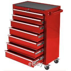 Bentley 25'' Metal Tool Box Rollcab Rolling Cabinet office Storage Red