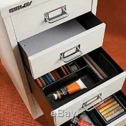 Bisley 6 Drawer Steel Under-Desk Multidrawer Storage Cabinet, Orange (MD6-OR)