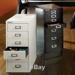 Bisley 6 Drawer Steel Under-Desk Multidrawer Storage Cabinet, Red (MD6-RD)