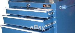 Blue Drawer Heavy Duty Wheeled Rolling Ball Bearing Tool Chest Cabinet Storage