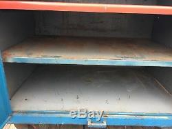Blue Heavy Duty Steel Storage Cabinet Rolling Industrial Kitchen Island Vintage