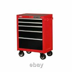 CRAFTSMAN 2000 Series 5Drawer Steel Tool Chest Rolling Red Storage Stackable USA