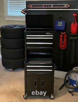 Cabinet Box Mechanic Garage Steel Pegboard Wheels Rolling Tool Chest Storage