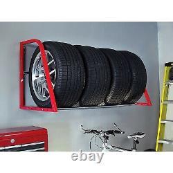 Car Tire Storage Rack Garage Wall Mount Bike Truck Rolling Floor Wheel 5 4 NEW