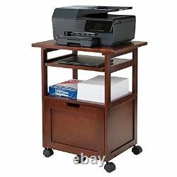 Cart Printer Stand Office Desk Mobile Rolling Laptop Computer File Storage Shelf