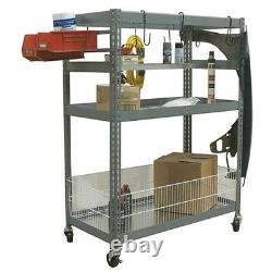 Champ Deluxe 2 Metal Shelves Station 1050-MF Rolling Auto Parts Tools Storage