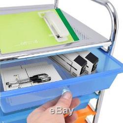 Color 15 Drawer Utility Rolling Mobile Organizer Cart Storage Bins Trays Trolley