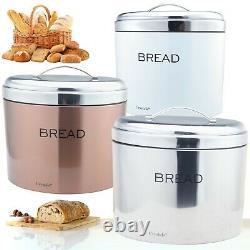 Coloured Stainless Steel Bread Bin Loaf Storage Elliptical Rolls Bread Fresh