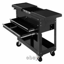 Costway Rolling Mechanics Tool Cart Slide Top Utility Storage Cabinet