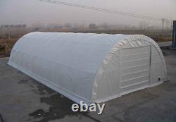 Covermore 30x65x15R (15 oz. PVC) 12' Roll-UP Doors Canvas Storage Building