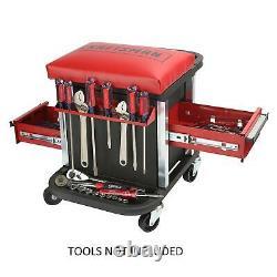 Craftsman Garage Glider Rolling Tool Chest Storage Compartment Under Padded Seat