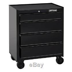 Craftsman Mechanics Storage 4-Drawer Rolling Tool Chest Cabinet Garage BLACK