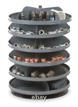 DURHAM MFG 1106-95 Prime Cold Rolled Steel Revolving Storage Bin 17 in D 25 3/8