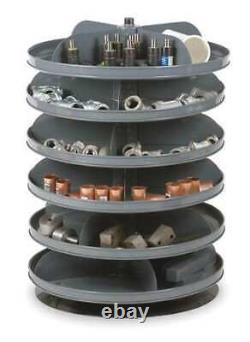 DURHAM MFG 1106-95 Prime Cold Rolled Steel Revolving Storage Bin, 17 in D x 17