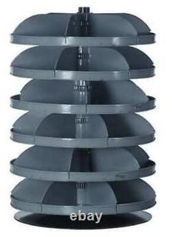 DURHAM MFG 1206-95 Prime Cold Rolled Steel Revolving Storage Bin, 28 in D x 28