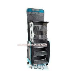 Debbee Flip'N Pack Expandable Rolling Craft Storage Case Stripes Brand New