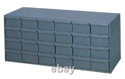Durham 007-95 Gray Cold Rolled Steel Storage Cabinet, 24 Drawer