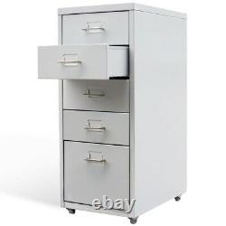 File Cabinets For Home Office 5 Drawer Filing Rolling Storage Organizer Steel