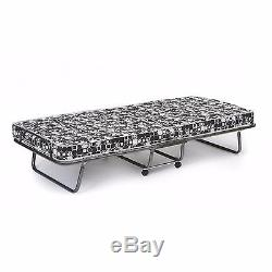 Folding Bed Twin Roll Away Guest Portable Sleeper Cot Mattress Easy Storage NEW