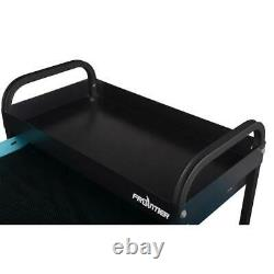 Frontier Rolling Utility Tool Cart Storage Drawer Anti-Slip Liner Black 2-Tray